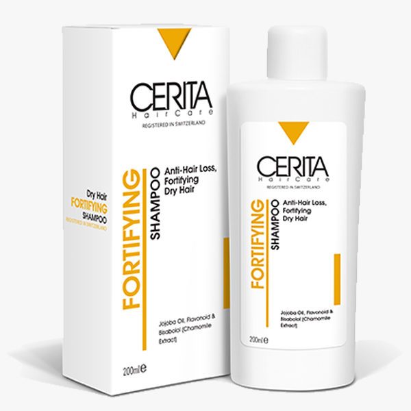 شامپو تقویتکننده و ضد ریزش مخصوص موهای خشک سریتا